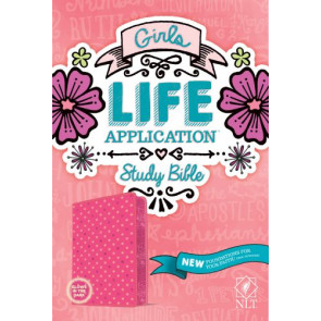 NLT Girls Life Application Study Bible (LeatherLike, Pink/Glow) - LeatherLIke Multicolor/Pink/Glow With ribbon marker(s)