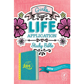 NLT Girls Life Application Study Bible (LeatherLike, Teal/Yellow) - LeatherLike Multicolor/Teal/Yellow With ribbon marker(s)