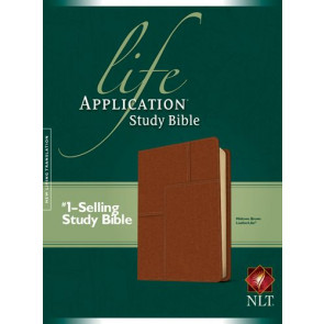 NLT Life Application Study Bible, Second Edition (Red Letter, LeatherLike, Brown) - LeatherLike Brown With ribbon marker(s)