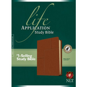 NLT Life Application Study Bible, Second Edition (Red Letter, LeatherLike, Brown, Indexed) - LeatherLike Brown With thumb index and ribbon marker(s)