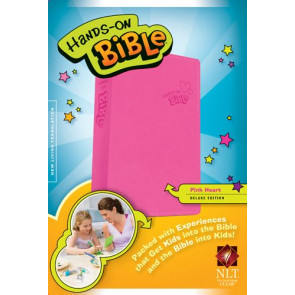 Hands-On Bible NLT  - LeatherLike Pink With ribbon marker(s)