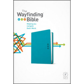 The Wayfinding Bible NLT (LeatherLike, Teal) - LeatherLike Teal With ribbon marker(s)