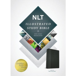 Illustrated Study Bible NLT, TuTone (LeatherLike, Black/Onyx) - LeatherLike Black/Onyx/Multicolor With ribbon marker(s)