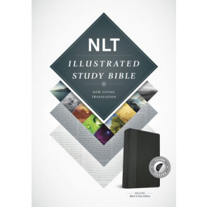 Illustrated Study Bible NLT, TuTone (LeatherLike, Black/Onyx, Indexed) - LeatherLike Black/Onyx/Multicolor With thumb index and ribbon marker(s)