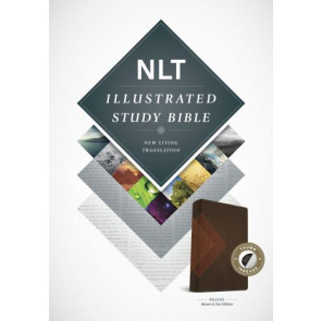 Illustrated Study Bible NLT, TuTone (LeatherLike, Brown/Tan, Indexed) - LeatherLike Brown/Multicolor/Tan With thumb index and ribbon marker(s)
