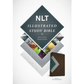 Illustrated Study Bible NLT, TuTone (LeatherLike, Teal/Chocolate) - LeatherLike Chocolate/Multicolor/Teal With ribbon marker(s)