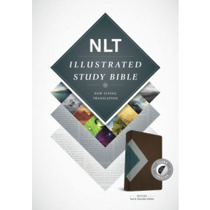 Illustrated Study Bible NLT, TuTone (LeatherLike, Teal/Chocolate, Indexed) - LeatherLike Chocolate/Multicolor/Teal With thumb index and ribbon marker(s)