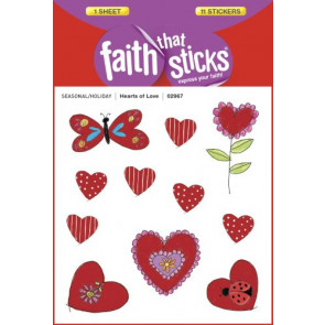Hearts of Love, Puffy - Stickers