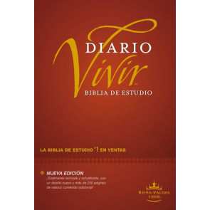 Biblia de estudio del diario vivir RVR60 (Letra Roja, Tapa dura, Vino tinto) - Hardcover Burgundy