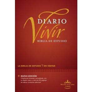 Biblia de estudio del diario vivir RVR60 (Letra Roja, Tapa dura, Vino tinto, Índice) - Hardcover Burgundy With thumb index