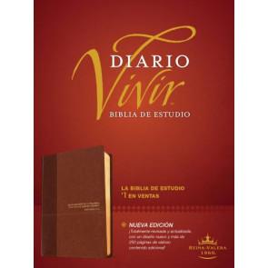Biblia de estudio del diario vivir RVR60 (Letra Roja, SentiPiel, Café/Café claro) - LeatherLike Brown/Multicolor/Tan With ribbon marker(s)