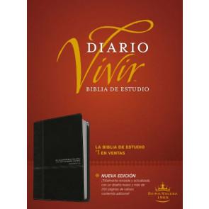 Biblia de estudio del diario vivir RVR60 (Letra Roja, SentiPiel, Negro/Ónice) - LeatherLike Black/Onyx/Multicolor With ribbon marker(s)