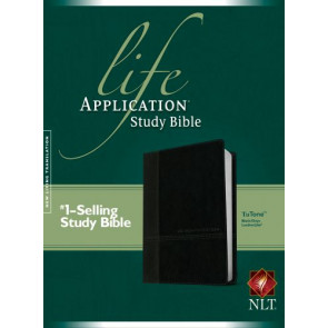 NLT Life Application Study Bible, Second Edition, TuTone (Red Letter, LeatherLike, Black/Onyx) - LeatherLike Black/Onyx/Multicolor With ribbon marker(s)