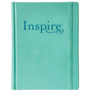 Inspire Bible NLT (Hardcover LeatherLike, Aquamarine) - Hardcover Aquamarine With ribbon marker(s) Wide margin