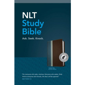 NLT Study Bible, TuTone (Red Letter, LeatherLike, Twilight Blue/Brown, Indexed) - LeatherLike Twilight Blue/Brown/Multicolor With thumb index and ribbon marker(s)