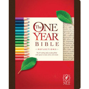 The One Year Bible Reflections NLT (Hardcover) - Hardcover With ribbon marker(s) Wide margin