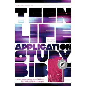 NLT Teen Life Application Study Bible, Index (LeatherLike, Pink, Indexed) - LeatherLike Pink With thumb index and ribbon marker(s)