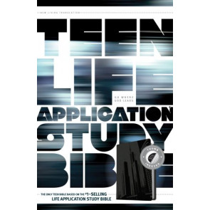 NLT Teen Life Application Study Bible, Index (LeatherLike, Steel, Indexed) - LeatherLike Steel With thumb index and ribbon marker(s)