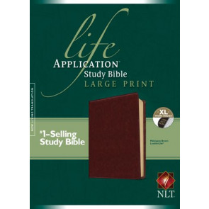 NLT Life Application Study Bible, Second Edition, Large Print (Red Letter, LeatherLike, Brown, Indexed) - LeatherLike Brown With thumb index and ribbon marker(s)