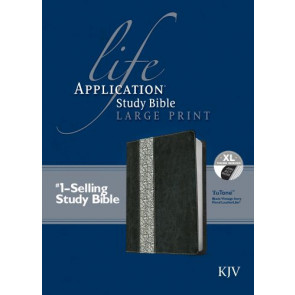 KJV Life Application Study Bible, Second Edition, Large Print, Tutone (Red Letter, LeatherLike, Black/Vintage Ivory Floral, Indexed) - LeatherLike Black/Vintage Ivory Floral/Multicolor With thumb index and ribbon marker(s)