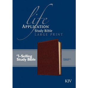 KJV Life Application Study Bible, Second Edition, Large Print (Red Letter, LeatherLike, Brown) - LeatherLike Brown With ribbon marker(s)