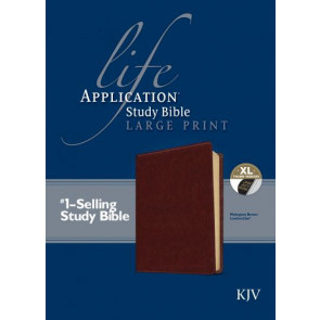 KJV Life Application Study Bible, Second Edition, Large Print (Red Letter, LeatherLike, Brown, Indexed) - LeatherLike Brown With thumb index and ribbon marker(s)