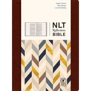 NLT Reflections Bible (Hardcover LeatherLike, Mahogany Brown) - Hardcover Mahogany Brown Imitation Leather With ribbon marker(s)