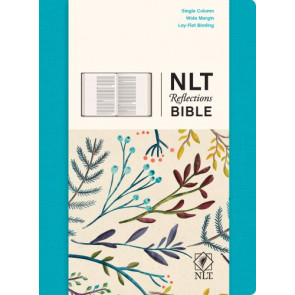 NLT Reflections Bible (Hardcover Cloth, Ocean Blue) - Hardcover Ocean Blue Cloth over boards With ribbon marker(s)