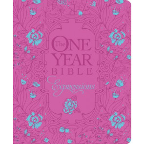 The One Year Bible Expressions, Deluxe (Hardcover, Pink Flower w) - Hardcover Pink Flower w With ribbon marker(s)