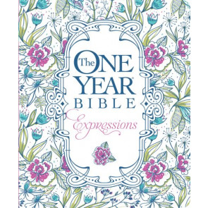 The One Year Bible Expressions (Softcover, Blue Flowers) - Softcover