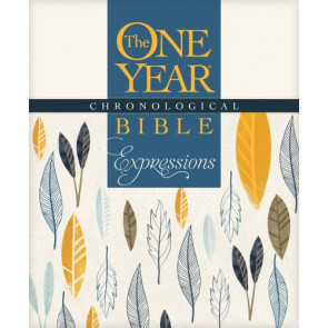 The One Year Chronological Bible Expressions (Softcover, Cream) - Softcover Cream