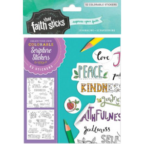 Galatians 5:22-23 Colorable Stickers - Stickers