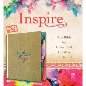 Inspire PRAYER Bible NLT (Hardcover LeatherLike, Metallic Champagne Gold) - Hardcover Vellum With ribbon marker(s)