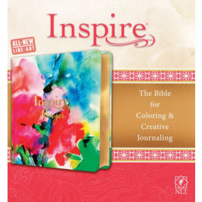 Inspire PRAYER Bible NLT (LeatherLike, Joyful Colors with Gold Foil Accents) - Shimmery LeatherLike Vellum With ribbon marker(s)
