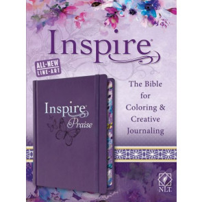 Inspire PRAISE Bible NLT (Hardcover LeatherLike, Purple) - Hardcover Purple With ribbon marker(s) Wide margin