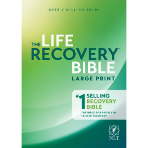 Life Recovery Bible NLT, Large Print - Hardcover