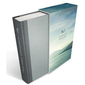 Illustrated Study Bible NLT Deluxe, Deluxe Linen Edition (Hardcover, Gray) - Hardcover Gray