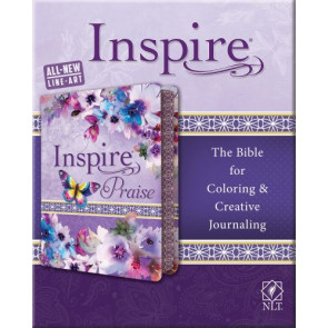 Inspire PRAISE Bible NLT (LeatherLike, Purple Garden) - Silky LeatherLike Purple Garden Flexible plastic/vinyl cover With ribbon marker(s)