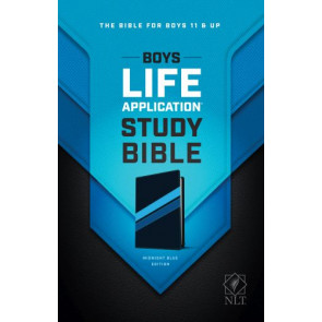 Boys Life Application Study Bible NLT, TuTone - LeatherLike Midnight Blue With ribbon marker(s)
