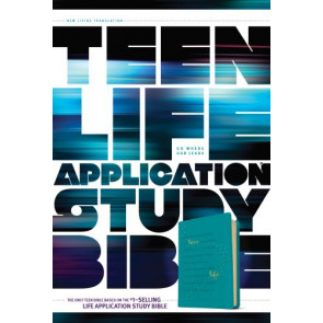 NLT Teen Life Application Study Bible (LeatherLike, Teal) - LeatherLike Teal With ribbon marker(s)