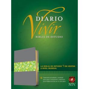 Biblia de estudio del diario vivir NTV (Letra Roja, SentiPiel, Gris/Verde, Índice) - LeatherLike Green/Gray/Multicolor With thumb index and ribbon marker(s)