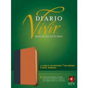 Biblia de estudio del diario vivir NTV (Letra Roja, SentiPiel, Azul/Café claro, Índice) - LeatherLike Blue/Multicolor/Tan With thumb index and ribbon marker(s)