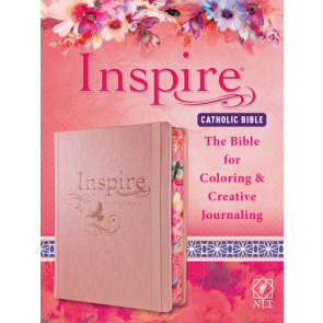 Inspire Catholic Bible NLT  (Hardcover LeatherLike, Rose Gold) - Hardcover Rose Gold With ribbon marker(s) Wide margin