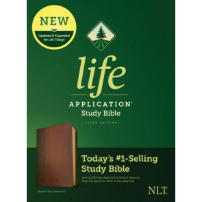 NLT Life Application Study Bible, Third Edition (LeatherLike, Brown/Tan) - LeatherLike Brown/Multicolor/Tan With ribbon marker(s)