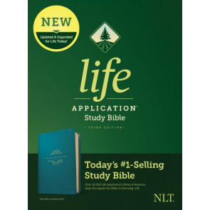 NLT Life Application Study Bible, Third Edition (LeatherLike, Teal Blue) - LeatherLike Teal Blue With ribbon marker(s)
