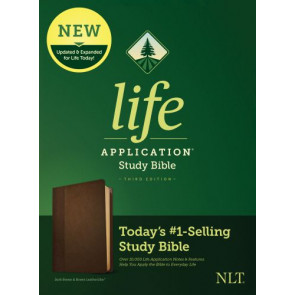 NLT Life Application Study Bible, Third Edition (LeatherLike, Dark Brown/Brown) - LeatherLike Brown/Dark Brown/Multicolor With ribbon marker(s)