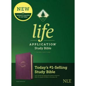 NLT Life Application Study Bible, Third Edition (LeatherLike, Purple) - LeatherLike Purple With ribbon marker(s)