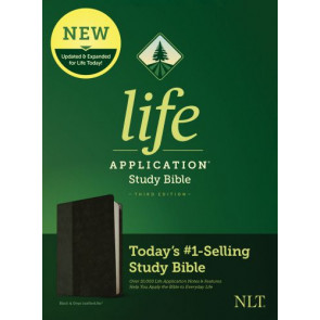 NLT Life Application Study Bible, Third Edition (LeatherLike, Black/Onyx) - LeatherLike Black/Onyx/Multicolor With ribbon marker(s)