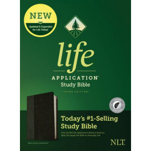 NLT Life Application Study Bible, Third Edition (LeatherLike, Black/Onyx, Indexed) - LeatherLike Black/Onyx/Multicolor With thumb index and ribbon marker(s)