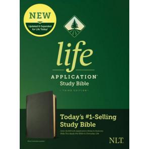 NLT Life Application Study Bible, Third Edition (Genuine Leather, Black) - Genuine Leather Black With ribbon marker(s)